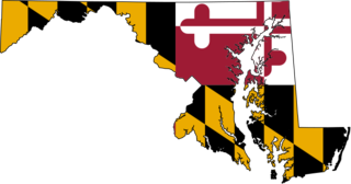 Maryland Flag map